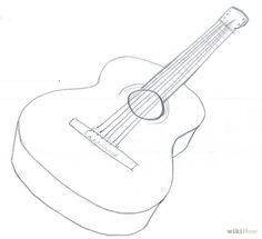 How to Draw an Acoustic Guitar: 15 Steps (with Pictures)