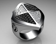 #Unique Mens Ring Cross Shield...    Please Like Thanks! :)