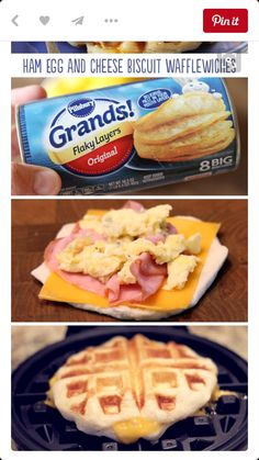 The Best Breakfast Recipes Ham, Egg, and Cheese Biscuit Wafflewiches are a fun and easy breakfast that's full of flavor! It's the recipe you make when you want to mix things up a bit. This easy hearty recipe is your perfect breakfast. Breakfast Desayunos, Perfect Breakfast, Breakfast Dishes, Easy Kid Breakfast Ideas, Breakfast Biscuits, Fodmap Breakfast, Southern Breakfast, Back To School Breakfast, Camping Breakfast
