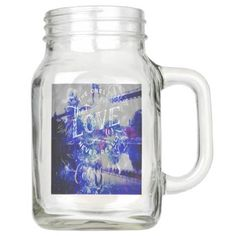 Lover's Dreams Bridge to the Ones that Love Us Mason Jar - mason jars gifts ideas presents