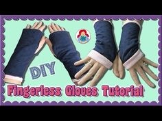 DIY | How to sew Fingerless Gloves • Sami Dolls Step by Step Tutorial - YouTube