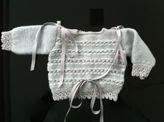 Lacy baby sweater