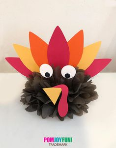 Turkey Centerpiece Pom, Thanksgiving Poms, Turkey Decor, Turkey Day,  Thanksgiving Centerpiece, Thanksgiving Ideas, Turkey Centerpiece