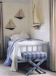 Boats and nautical ideas are always great for big boy room