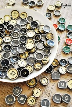 How to Make Typewriter Key Jewelry ~ A Tutorial (this sounds like waaaay too much work for me, but I think it's cool that someone is doing it!)