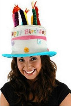 Birthday Hat! Adult Unisex Birthday Cake Hat w Candle Details  #EL #TopnHat