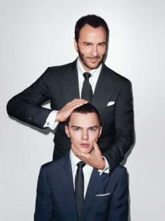 Tom Ford and Nicholas Hoult.