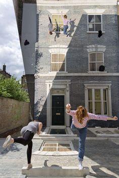 Mirror house art pops up in east London