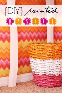 how to paint a wicker basket DIY