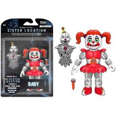 Five Nights at Freddy's FNAF Sister Location: Baby Articulated [Action Figure] by Funko, Kirin Hobby Fnaf Action Figures, Pop Figures, Vinyl Figures, Sister Location Baby, Five Nights At Freddy's, Fnaf Baby, Freddy 's, Funtime Foxy, Star Wars Shop