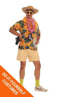 Create this one-of-a-kind tacky tourist costume at Goodwill.