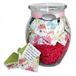 A jar full of anniversary paper notes