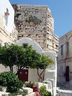 The `Wall' on Paros Island at Kastro #travel #Greece