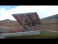 How to build a solar tracker. DIY solar panel sun tracker. - YouTube