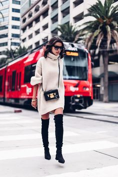 VivaLuxury - Fashion Blog by Annabelle Fleur: SAN DIEGO SWEATER DRESSING