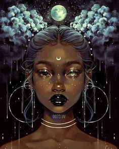 Beautiful Bizarre Magazine — That is one fascinating digital painting by. Digital Art Girl, Digital Portrait, Portrait Art, Digital Art Fantasy, Dark Fantasy Art, Fantasy Artwork, Black Love Art, Black Girl Art, Girl Cartoon