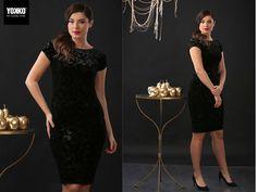 EVA dress YOKKO  fall16 #velvet #gold #dress #evening #elegant #style #black #yokkoinspiration Velvet, Women's Fashion, Magic, Slim, Elegant, Outfits, Black, Tops, Dresses