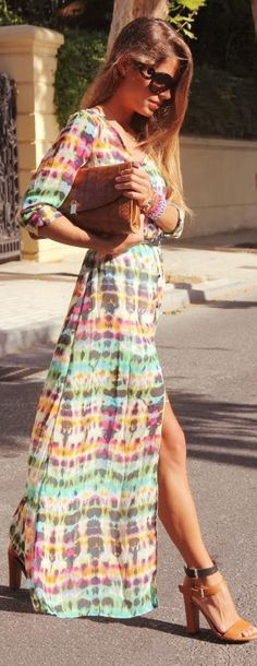 Boho Sheer Maxi Cardigan Dress