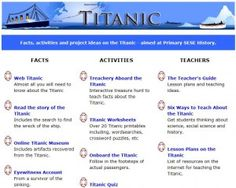 With the centenary of the sinking of the Titanic coinciding with the return to school Summer Courses, 5th Grades, Titanic, Geography, Activities, History, School, Fifth Grade, Historia