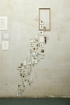 think outside the box: small photos escaping from a large frame