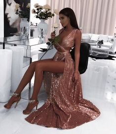 2019 Charming Sexy Sequin Sparkly Simple Rose Gold and Black Split Fashion Popular Prom Dresses, Evening dresses Black Prom Dress 2019 Evening Dresses Sexy Prom Dress Sequin Prom Dress Prom Dress Prom Dresses 2019 Pretty Dresses, Sexy Dresses, Beautiful Dresses, Long Dresses, Glamour Dresses, Quince Dresses, Fall Dresses, Casual Dresses, Prom Outfits