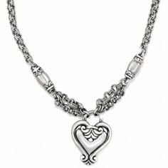 "Brighton Blaire Heart Necklace  available at #Brighton- I tried to talk my daughter into letting me get her the Brighton ""Blaire Heart"" Collection but she wants chocolate candy and a new Valentine's Day dress instead. <3"
