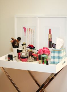 Vanity tray and 6 other tips to organize your beauty products #theeverygirl #beauty #makeup
