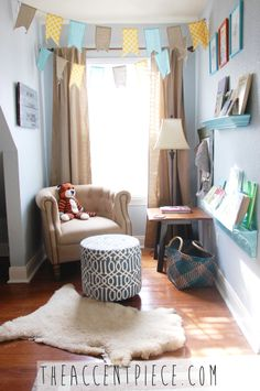Great little nursing or reading nook in this vintage #nursery