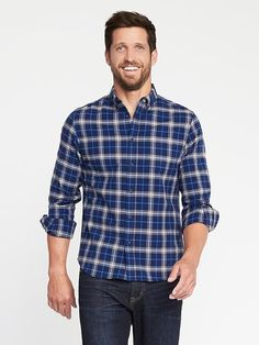 Shop Old Navy, Button Down Collar, Oxford, Men Casual, Slim, Long Sleeve, Fitness, Sleeves, Work Wardrobe