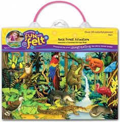 Rain Forest Adventure Animals Felt Set (20+ Felt Figures, Flannelboard & Case):Amazon:Toys & Games