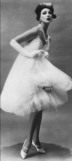 1958, Tulle evening dress by James Galanos