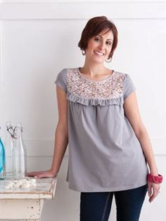 Templates: Lace Ruffle Tunic - Quilting Daily