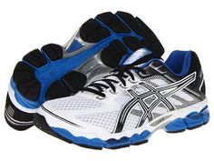 ASICS GEL-Cumulus® 15 White/Black/Royal - Zappos.com Free Shipping BOTH Ways