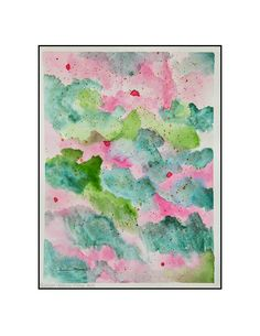 "Original Watercolor by Susan Marie Fairclough, Bougainvillea Hillside, 12"" X 16"" Unmatted"