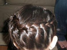"""""""halo"""" braid. Now, who can come do this to me if I promise to sit really still?"""