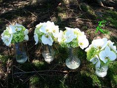 Blue Green And White Wedding | Kuga Designs: Silver and White Phalaenopsis Wedding {The set up}