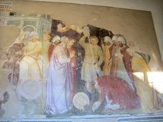 Niccolò di Pietro Gerini (bottega) - Martirio di Santa Caterina d'Alessandria - Chiostro di Santa Felicita, Firenze