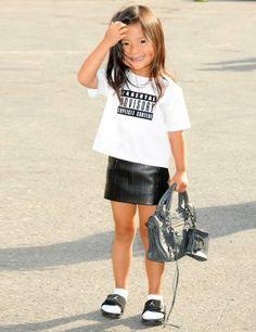 #AlexanderWang's niece - mini #fashionista
