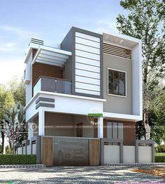 New House Facade Modern Exterior Design Ideas Modern Exterior House Designs, Modern Architecture House, Cool House Designs, Exterior Design, 2 Storey House Design, Bungalow House Design, Duplex Design, Flat Roof House, Facade House