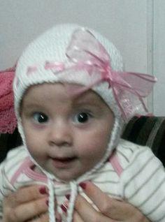 Touca de crochê Baby PRINCESA Marcella.