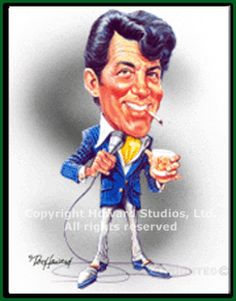 Dean Martin Picture - caricature from web source -MReno