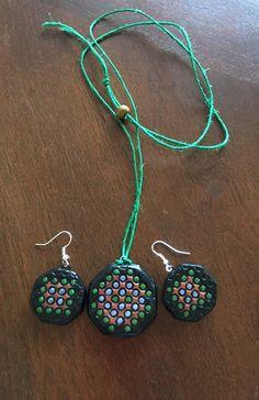 Handmade terracotta set(Black, green and blue) by Riyaterracotta on Etsy https://www.etsy.com/listing/266934370/handmade-terracotta-setblack-green-and