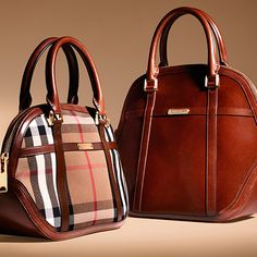 The Orchard bag in leather and classic check from the Burberry A/W13 accessories collection