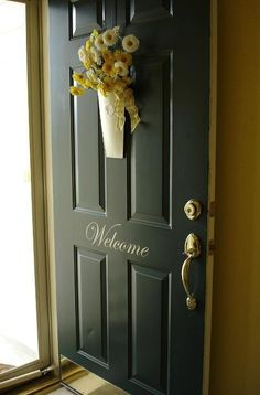 Make your home more inviting by applying Uppercase vinyl to your front door. Makes a big impact! http://lizmyers.uppercaseliving.net