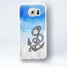Nautical Anchor Galaxy S6 Edge Case Blue Painted Wood Samsung Galaxy S 6 Edge Covers   #aegean #anchor #blue #Case #GalaxyS6EdgeCase #GalaxyS6EdgeCover #GalaxyS6EdgeCase #GalaxyS6EdgeCover #marine #nautical #ocean #S6EdgeCase #sea #vintage #woodprint #zen #designer