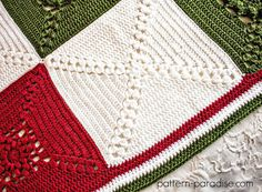 Crochet Afghan Square Pattern for Rosary Hill Blanket CAL and Charity Project on Pattern-Paradise.com #crochet #freepattern #CAL #charity #crochetalong #afghan