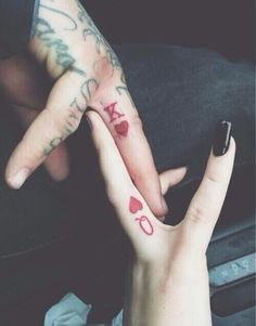 not one for couples tats but this one is actually kinda cool | King and Queen.