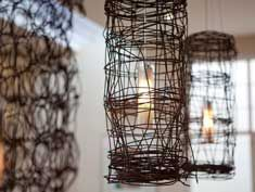barbed wire light fixture