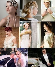 1920's INSPIRED WEDDING THEMES | This fashion board from Belle Memoire sums up the fashions nicely ...