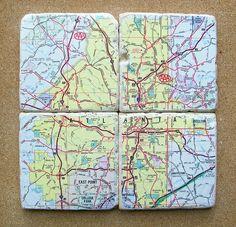 Atlanta Georgia Map Coasters $30.00